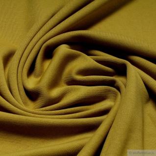 Stoff Baumwolle Interlock Jersey senf T-Shirt Tricot weich dehnbar