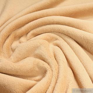 Stoff Polyester Wellness Fleece beige Kuschelfleece haselnuß