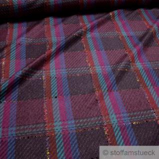 Stoff Wolle Polyester Köper Karo bunt Überkaro