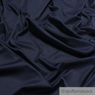 Stoff Polyester Elastan Interlock Jersey dunkelblau leicht bi-elastisch
