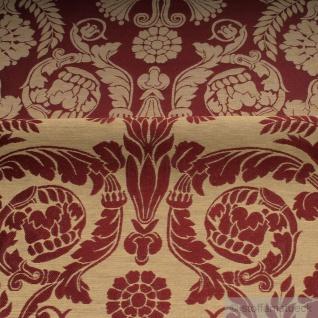 Stoff Polyester Baumwolle Jacquard Ornament klein bordeaux gold 280 cm breit - Vorschau 5
