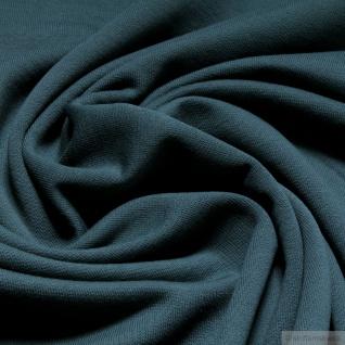 0, 5 Meter Stoff Baumwolle Single Jersey seegrün angeraut Sweatshirt weich grün