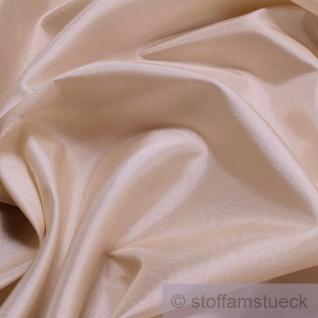 2 Meter Stoff Polyester Kleidertaft vanille Taft dezenter Glanz