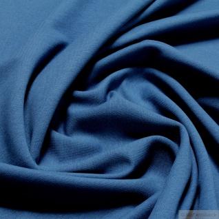 0, 5 Meter Stoff Baumwolle Elastan French Terry blau Sommer Sweat Jersey