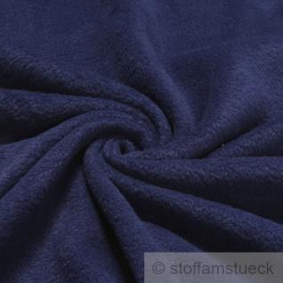 Stoff Polyester Fleece dunkelblau warm weich