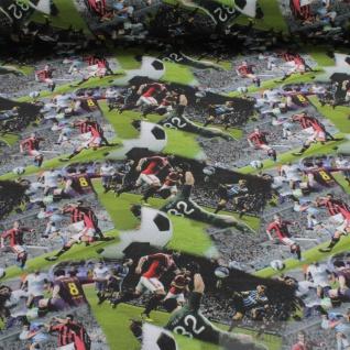 Stoff Kinderstoff Baumwolle Elastan Single Jersey Fußballspiel Fußballer - Vorschau 1