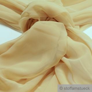 Stoff Polyester Chiffon blassgelb transparent leicht weich fallend pastellgelb
