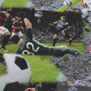 Stoff Kinderstoff Baumwolle Elastan Single Jersey Fußballspiel Fußballer - Vorschau 3