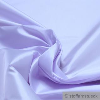 Stoff Polyester Satin flieder leicht blickdicht glänzend glatt helllila