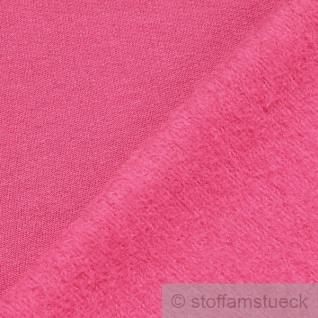 0, 5 Meter Stoff Baumwolle Single Jersey pink angeraut Sweatshirt weich fuchsia - Vorschau 2
