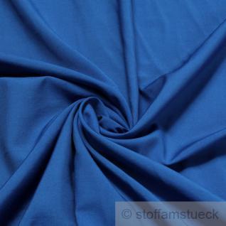 Stoff Viskose Polyester Leinwand kobaltblau leicht weich fließend fallend