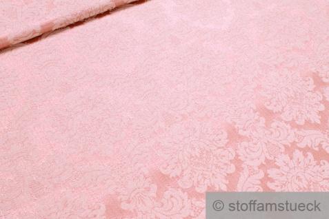 Stoff Baumwolle Polyester Jacquard rosa Ornament ecru 280 cm breit