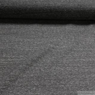 Stoff Baumwolle Polyester Elastan Single Jersey grau angeraut Winter-Sweat