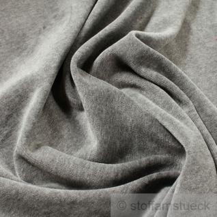 Stoff Baumwolle Polyester Nicki hellgrau Nicky weich