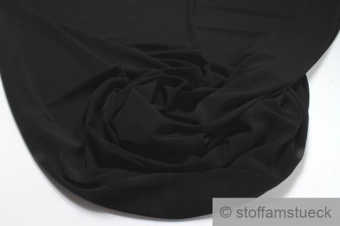 Stoff Polyester Leinwand schwarz knitterfrei Hosenstoff Bekleidungsstoff