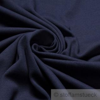 0, 5 Meter Stoff Baumwolle Interlock Jersey dunkelblau T-Shirt weich dehnbar