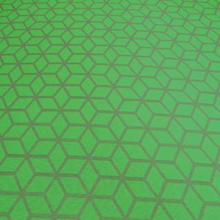 Stoff Polyester Baumwolle Jacquard Raute grün beige neon neongrün