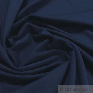 0, 5 Meter Stoff Baumwolle Elastan Single Jersey dunkelblau T-Shirt weich dehnbar