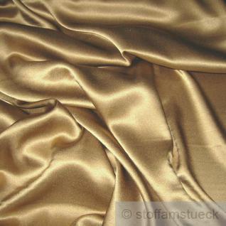 Stoff Seide Elastan Satin bronze weich fließend Stretch elastisch edel
