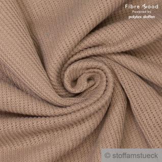 Stoff Baumwolle Polyester Rib Jersey grob beige Fibre Mood Rippenjersey
