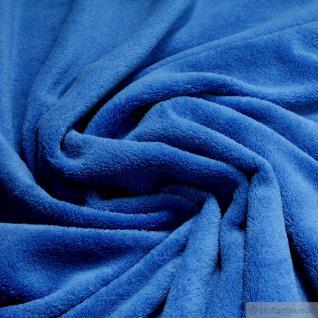 Stoff Polyester Wellness Fleece kobaltblau Kuschelfleece blau
