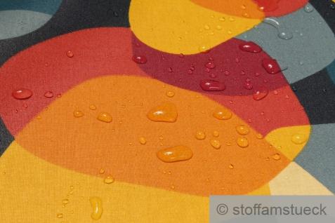 Stoff Baumwolle Acryl bunt Kreis Retro wasserabweisend beschichtet - Vorschau 3