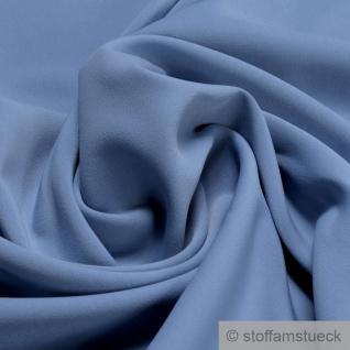 Stoff Polyester Elastan Interlock Jersey hellblau schwer