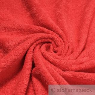 Stoff Baumwolle Frottee rot Frotté zweiseitig Baumwollstoff weich