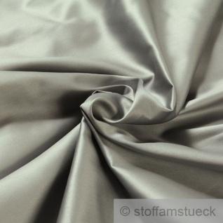 Stoff Baumwolle Satin silbergrau überbreit 3 m breit mercerisiert Baumwollstoff grau silber