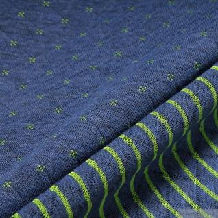 Stoff Baumwolle Polyester Doubleface Jersey blau grün Stepper Streifen Raute