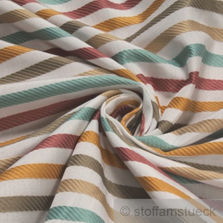 Stoff Trevira® CS Satin Streifen gold mint pastellrosa breit 300 cm