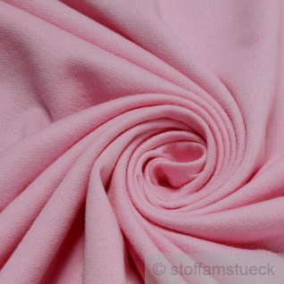 Stoff Baumwolle Single Jersey rosa angeraut Sweatshirt weich dehnbar