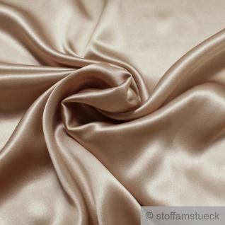 Stoff Seide Elastan Satin beige leicht anschmiegsam fließend leicht