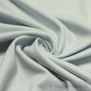 0, 5 Meter Stoff Baumwolle Interlock Jersey hellblau T-Shirt Tricot weich dehnbar
