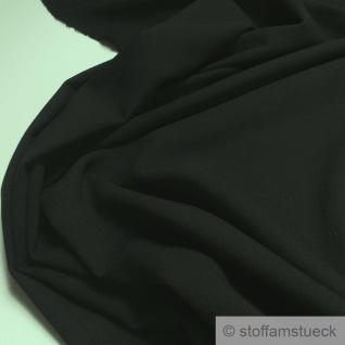 Stoff Polyester Viskose Halbpanama schwarz knitterarm schwer