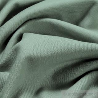 0, 5 Meter Stoff Baumwolle Elastan Single Jersey pastellgrün T-Shirt weich - Vorschau 2