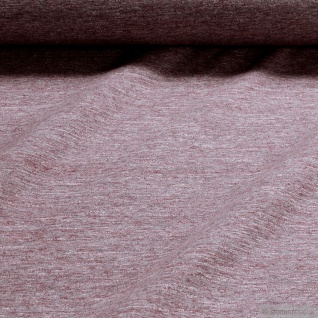 0, 5 Meter Stoff Baumwolle Polyester Single Jersey bordeaux angeraut Winter-Sweat rot