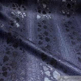 Stoff PVC Kunstleder Krokodil nachtblau leicht glänzend marine dunkelblau