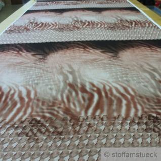 1, 3 Meter Stoff Polyester Chiffon Flamme beige braun transparent leicht