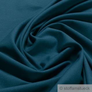 0, 5 Meter Stoff Baumwolle Elastan Single Jersey blau T-Shirt Tricot weich