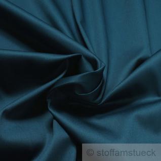 Stoff Baumwolle Elastan Satin petrol edel blau