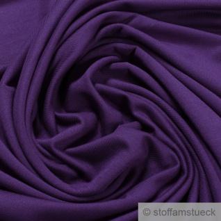 0, 5 Meter Stoff Bambus Elastan Single Jersey lila atmungsaktiv knitterarm