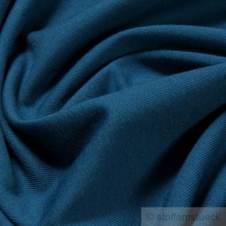 0, 5 Meter Stoff Baumwolle Elastan Single Jersey petrol T-Shirt weich dehnbar - Vorschau 2