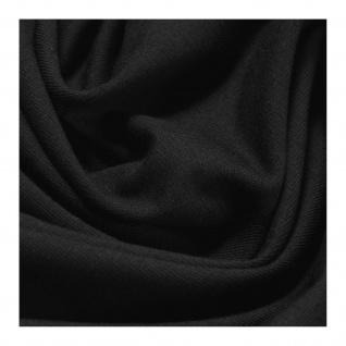 0, 5 Meter Stoff Baumwolle Elastan Single Jersey schwarz T-Shirt weich dehnbar - Vorschau 2