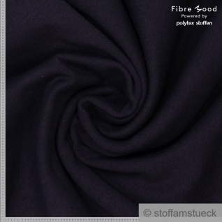 Stoff Bambus Recycelt Polyester Elastan Satin schwarz Fibre Mood
