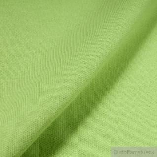 0, 5 Meter Stoff Baumwolle Interlock Jersey hellgrün T-shirt Tricot weich dehnbar - Vorschau 3