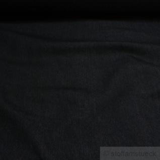 Stoff Baumwolle Elastan Köper Jeans schwarz vorgewaschen Jeansstoff Denim weich