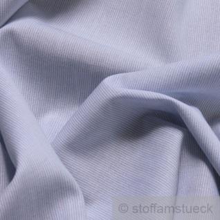 Stoff Baumwolle Hairline-Streifen hellblau weiß 1 mm Streifen Nadelstreifen