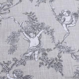 Stoff Ramie Baumwolle Toile de Jouy beige Putte Engel Chinaleinen Grasleinen - Vorschau 5