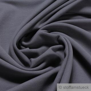 0, 5 Meter Stoff Baumwolle Elastan French Terry dunkelgrau Jersey